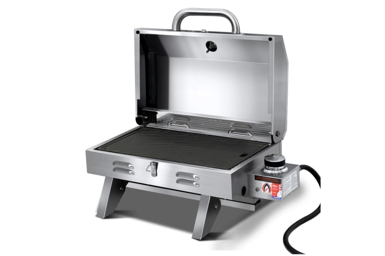 Portable Gas BBQ LPG Oven Camping Grill Stainless Steel Outdoor