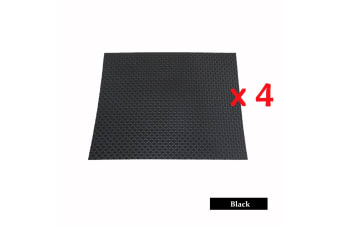 4 Pieces of Woven Table Placemats Black by Choice
