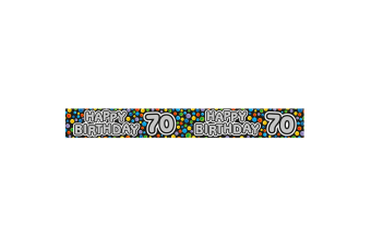 Expression Factory Happy 70th Birthday Polka Dot Foil Party Banner (Multicoloured)
