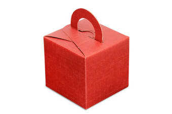 Club Green Square Gift Box With Carry Handle (Pack Of 10) (Red) (One Size)