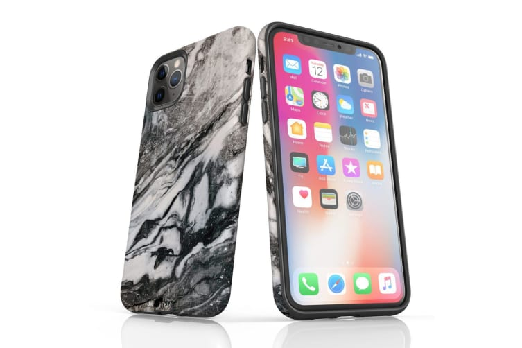 For iPhone 11 Pro Shielding Back Case  Retro Marble