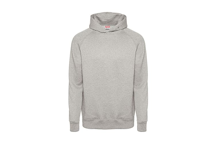 FDM Tagless Media Hoodie (Heather Grey) (M)