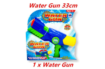 1 x Air Water Pump Gun Pistol Blaster Shooter Super Kids Summer Event Party 33cm