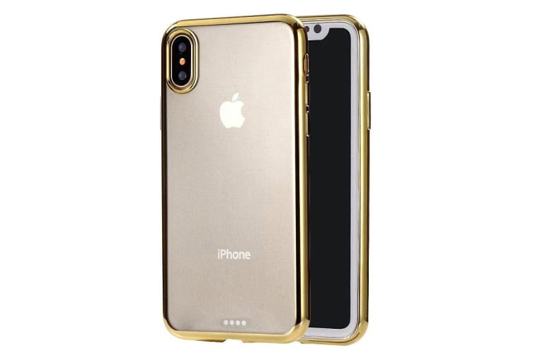 separation shoes 81fb0 58cf0 For iPhone XS Max Cover Ultra-thin Electroplated Slim Protective Phone Case  Gold
