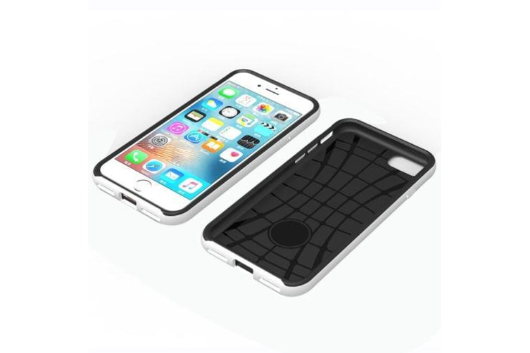 For iPhone 8 7 Case Strong Separable Armour Durable  Protective Cover White