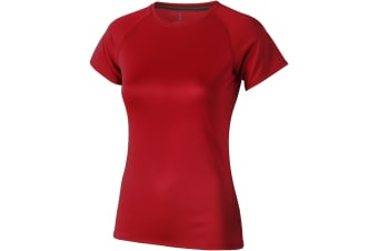 Elevate Womens/Ladies Niagara Short Sleeve T-Shirt (Red) (XL)