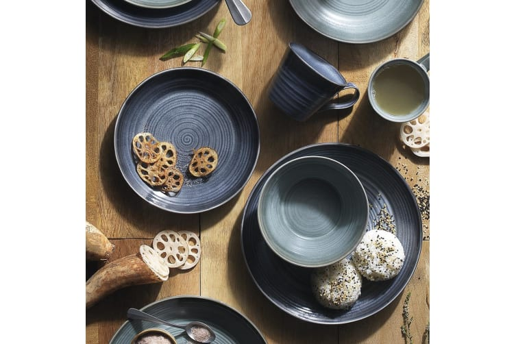 Ecology Arc Indigo Dinner Set of 12