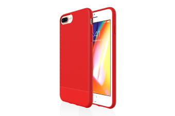 For iPhone 8 Plus  7 Plus  6 Plus & 6S Plus Case  Red Snap Slim Armour Cover