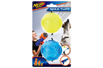 Nerf Translucent Sonic Dog Ball (Pack Of 2) (Yellow/Blue) (One Size)
