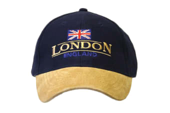 London England Baseball Cap Suede Cap with adjustable strap (As Shown)