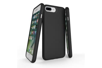 For iPhone 8  7  6 & 6S Case  Black Armor Slim Shockproof Protective Phone Cover