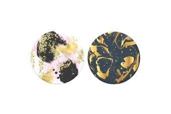 2pc Popsockets Gilded Swirl/Glam Swappable Top for Base Grip PopGrip