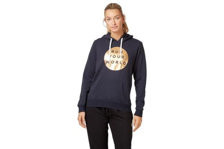 Saucony Run Your World Circle Hoody Jumper (Navy, Size S)
