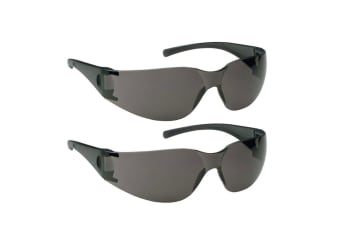 2PK Jackson Safety Glasses V10 Element Lens Smoke/Black UVA/UVB Eye Protection