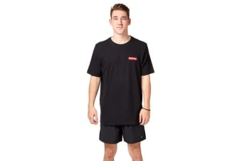 Saucony Mens Block Embroided Tee (Black)