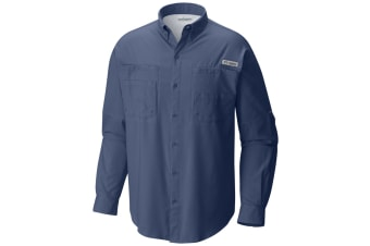 Columbia Mens Tamiami II Long Sleeve Shirt - Night Tide