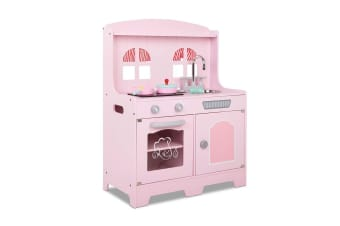 825360b60ce2 Keezi Kids Wooden Kitchen Play Set - Pink and Silver
