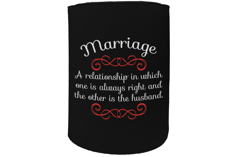 123t Stubby Holder - marriage - Funny Novelty