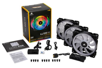 Corsair Light Loop Series, LL120 RGB, 120mm Dual Light Loop RGB LED PWM Fan, 3 Fan Pack with Lighting Node PRO