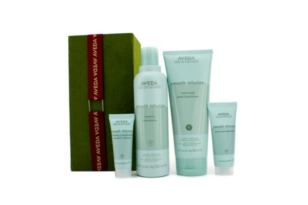 Aveda Smooth Infusion Set:Shampoo 250ml + Conditioner 200ml + Style Pre-Smoother 40ml + Glossing Straighte (4pcs)