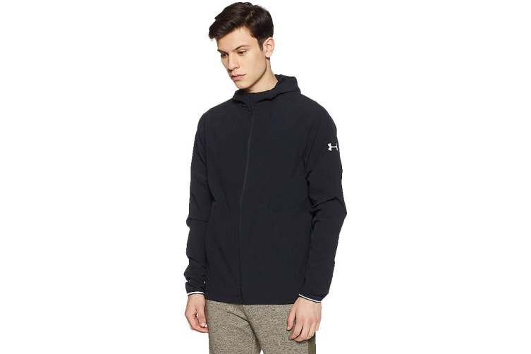 Under Armour Men's Outrun The Storm Jacket (Black/Reflective, Size Medium)