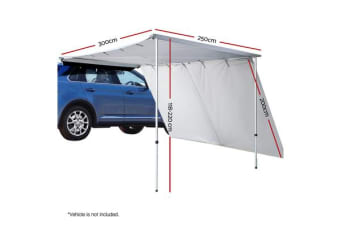 2.5M X 3M Car Side Awning and Extension Roof Rack Tents Shades Camping 4X4 4WD