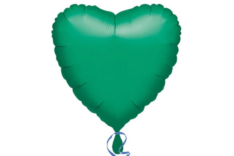 Anagram 18in Heart Foil Balloon (Pack Of 10) (Green) (18in)