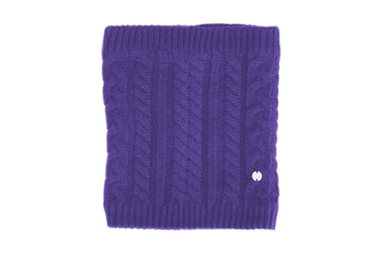 HyFASHION Adults Meribel Cable Knit Snood (Ultra Violet) (One Size)
