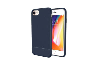 For iPhone 8 7 6 & 6S Case  Blue Snap Armor Shock Proof Light Slim Phone Cover