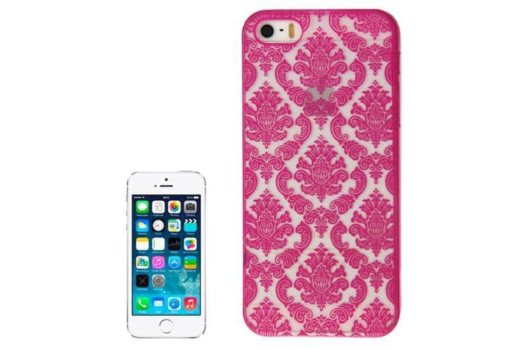 For iPhone SE 5S 5 Case Modern Mystical Flowers Shielding Cover Magenta