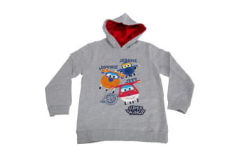 Super Wings Toddler Boys Jerome Donnie And Jett Character Hoodie (Light Grey Marl) (2-3 Years)
