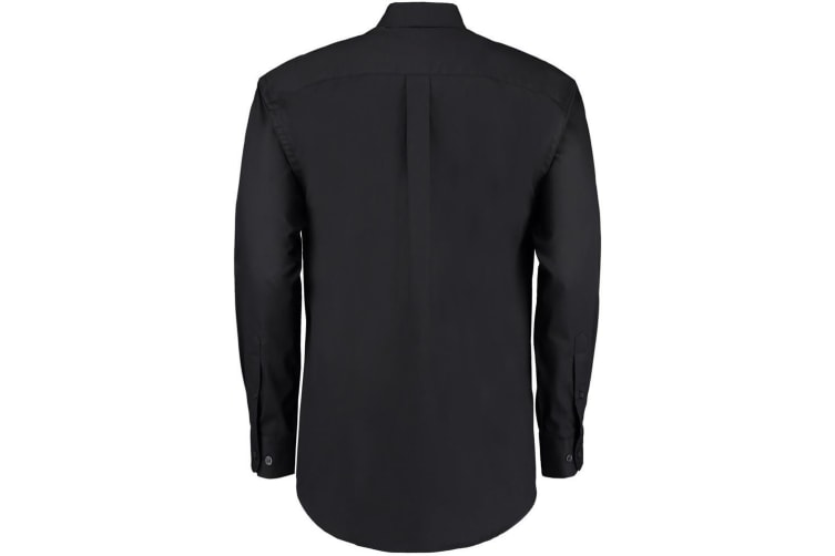 Kustom Kit Mens Long Sleeve Corporate Oxford Shirt (Black) (23inch)