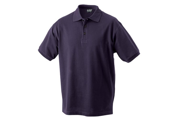 James and Nicholson Mens Classic Polo (Aubergine) (XXL)