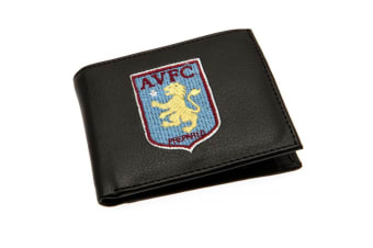 Aston Villa FC Embroidered Wallet (Black) (One Size)