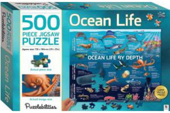 Ocean Life by Depth 500 Piece Jigsaw Puzzle