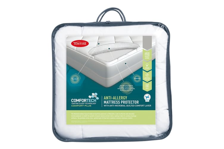 Tontine Comfortech Anti Allergy Mattress Protector (Double)