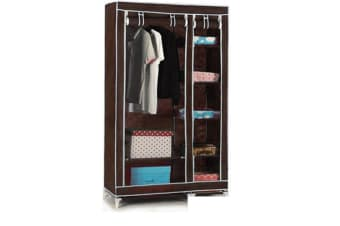 5 Shelves Brand New Easy to assemble Portable Wardrobe Brown