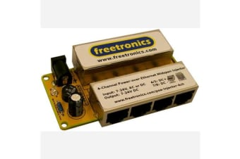 4-Channel Power-over-Ethernet Midspan Injector