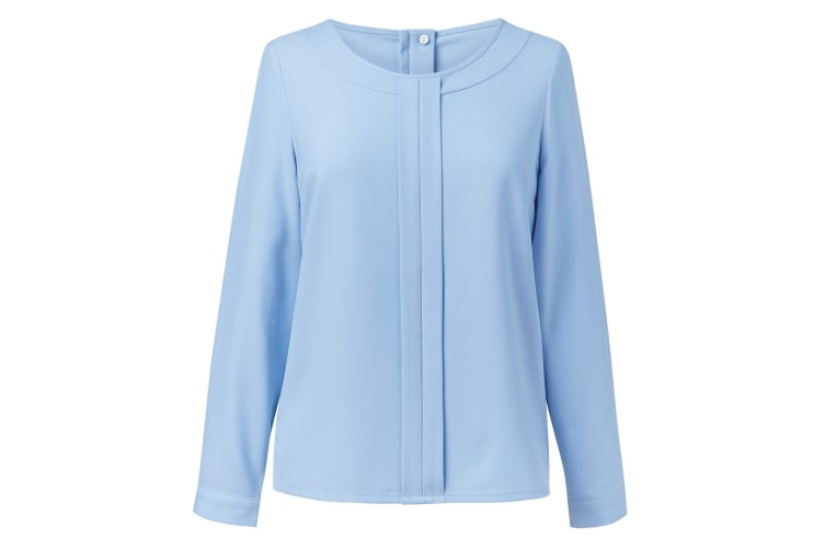 Brook Taverner Womens/Ladies Roma Crepe De Chine Long Sleeved Blouse (Sky Blue) (18)