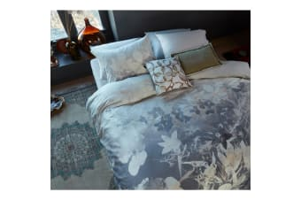 Misty Floral Grey Quilt Cover Set King