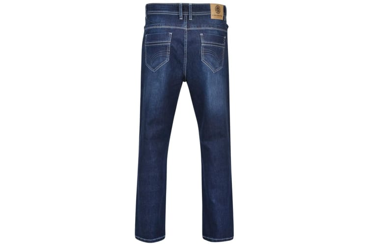 Kam Jeanswear Mens Alonso Stretch Jeans (Mid Blue) (60R)