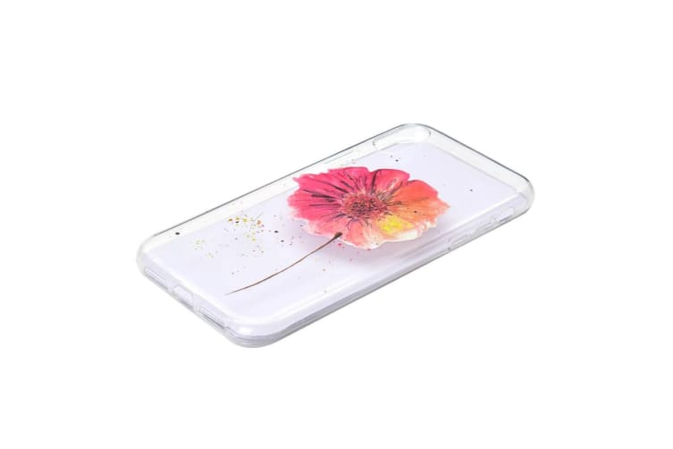 For iPhone XR Case Colorful Folower Pattern Grippy TPU Back Shell Cover