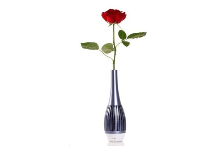Bluetooth Rechargeable Speaker Vase Led Light Control App Android Handsfree Blue