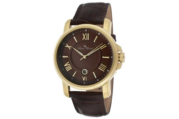 Lucien Piccard Men's Cilindro Brown Dial Brown Genuine Leather (LP-12358-YG-04)