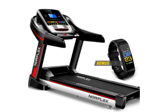 NORFLEX Treadmill 450mm Belt Auto Incline Gym Exercise Machine Fitness Tracker