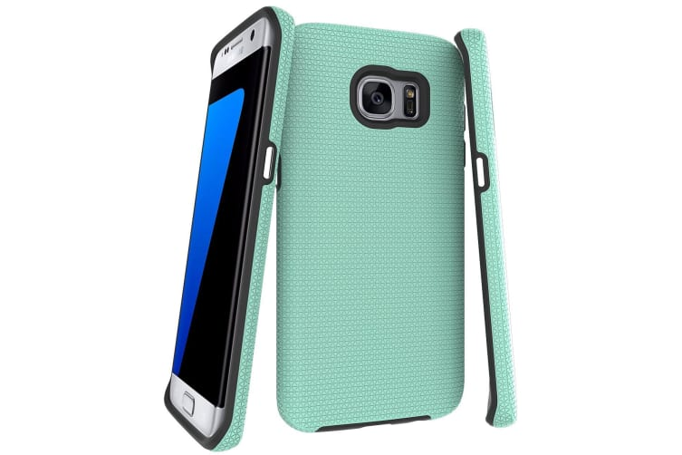 online store 8325e 77d13 For Samsung Galaxy S7 EDGE Case Mint Armor Shockproof Protective Phone Cover