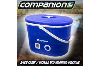 COMPANION 1KG SINGLE TUB MINI WASHING MACHINE WITH SPIN DRY BOAT CARAVAN COMP445