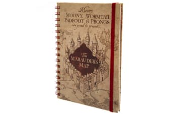 Harry Potter Marauders Map Notebook (Beige) (One Size)