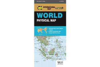 World Physical Map 100 21st ed