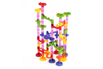 105 Piece Transparent Plastic Marble Run Playset